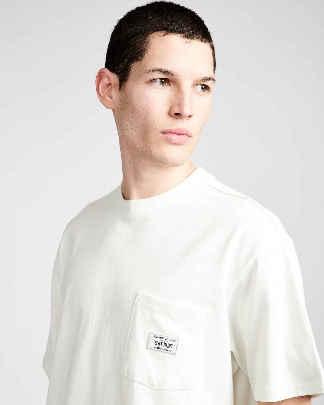 1 Timber Heavy Ss Tee - Knit for Men White N1KTC5ELP9 Element