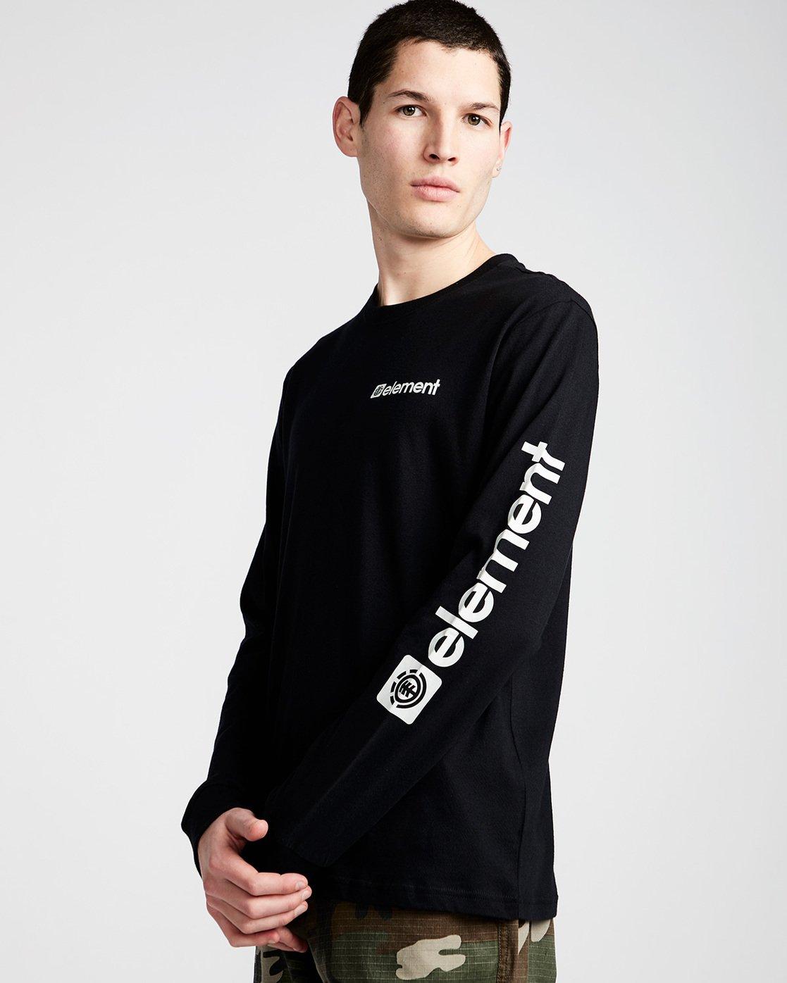 0 Joint Ls - Tee Shirt for Men Black N1LSA4ELP9 Element