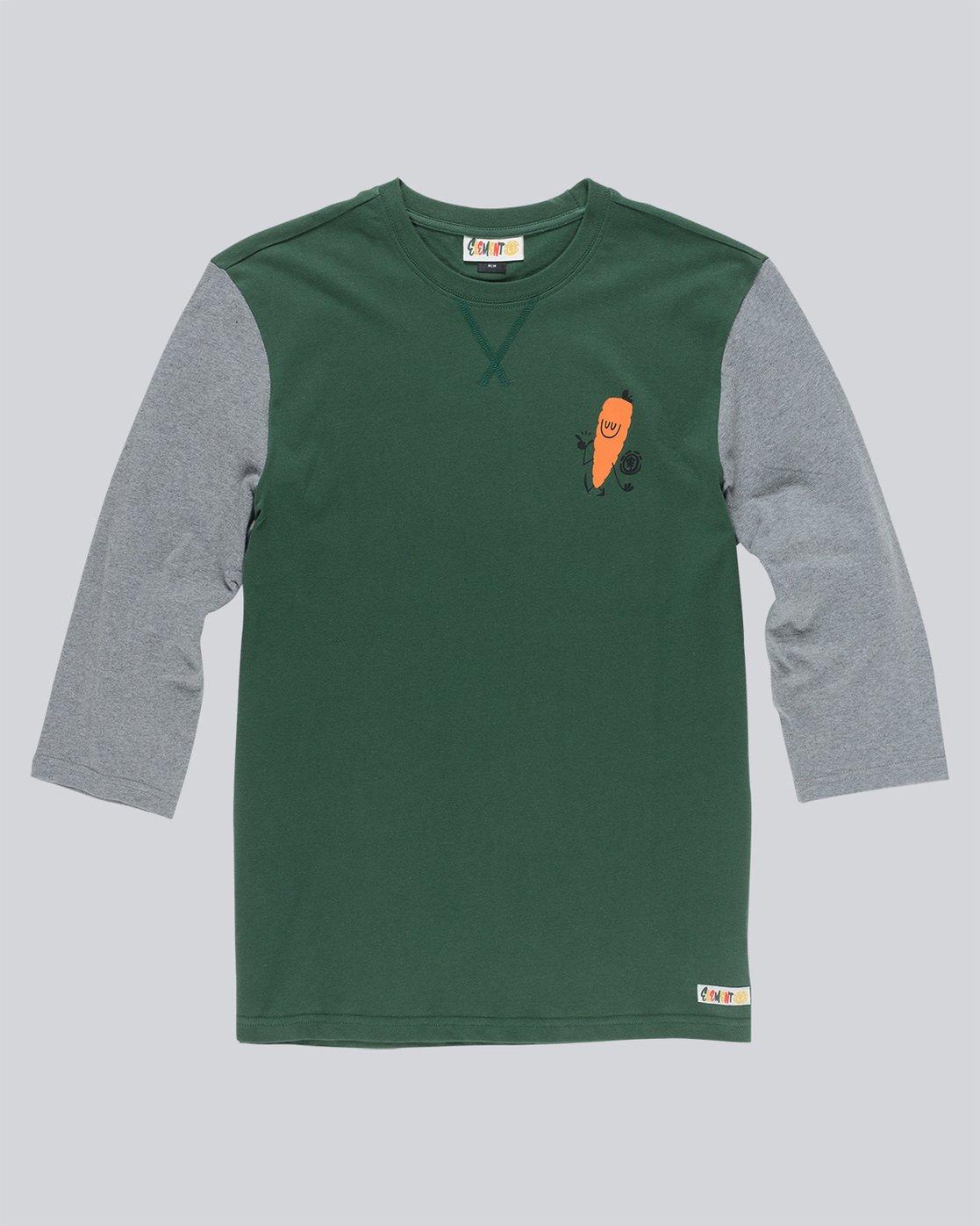 3 Yawyd Healthy 3/4 Te - Tee Shirt for Men Green N1LSA6ELP9 Element