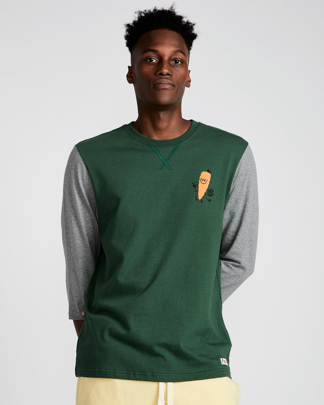 0 Yawyd Healthy 3/4 Te - Tee Shirt for Men Green N1LSA6ELP9 Element