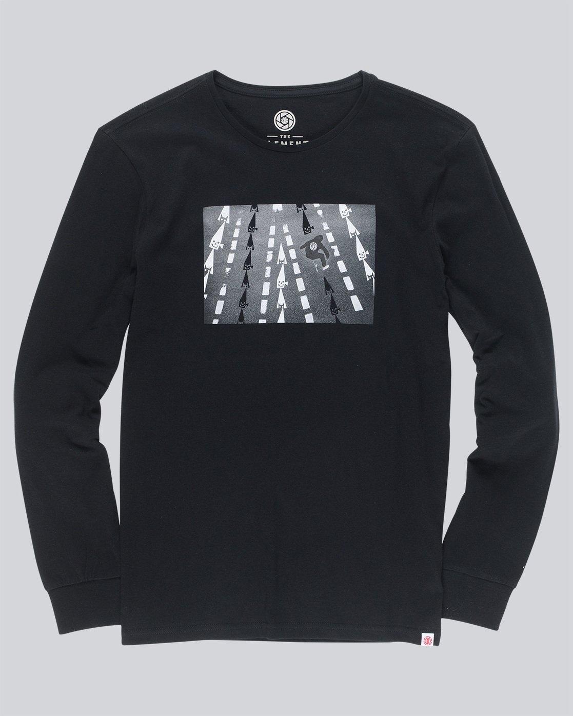 4 Nassim Ls - Tee Shirt for Men Black N1LSA8ELP9 Element