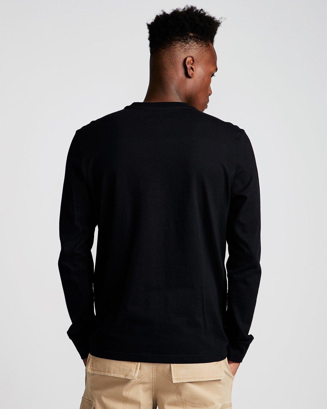 2 Vertical Ls - Tee Shirt for Men Black N1LSB1ELP9 Element