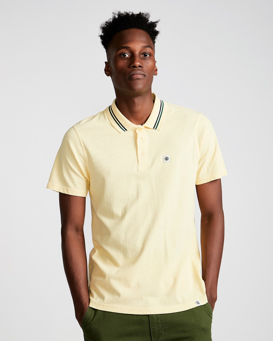 0 Pasco - Polo for Men Jaune N1PPA1ELP9 Element