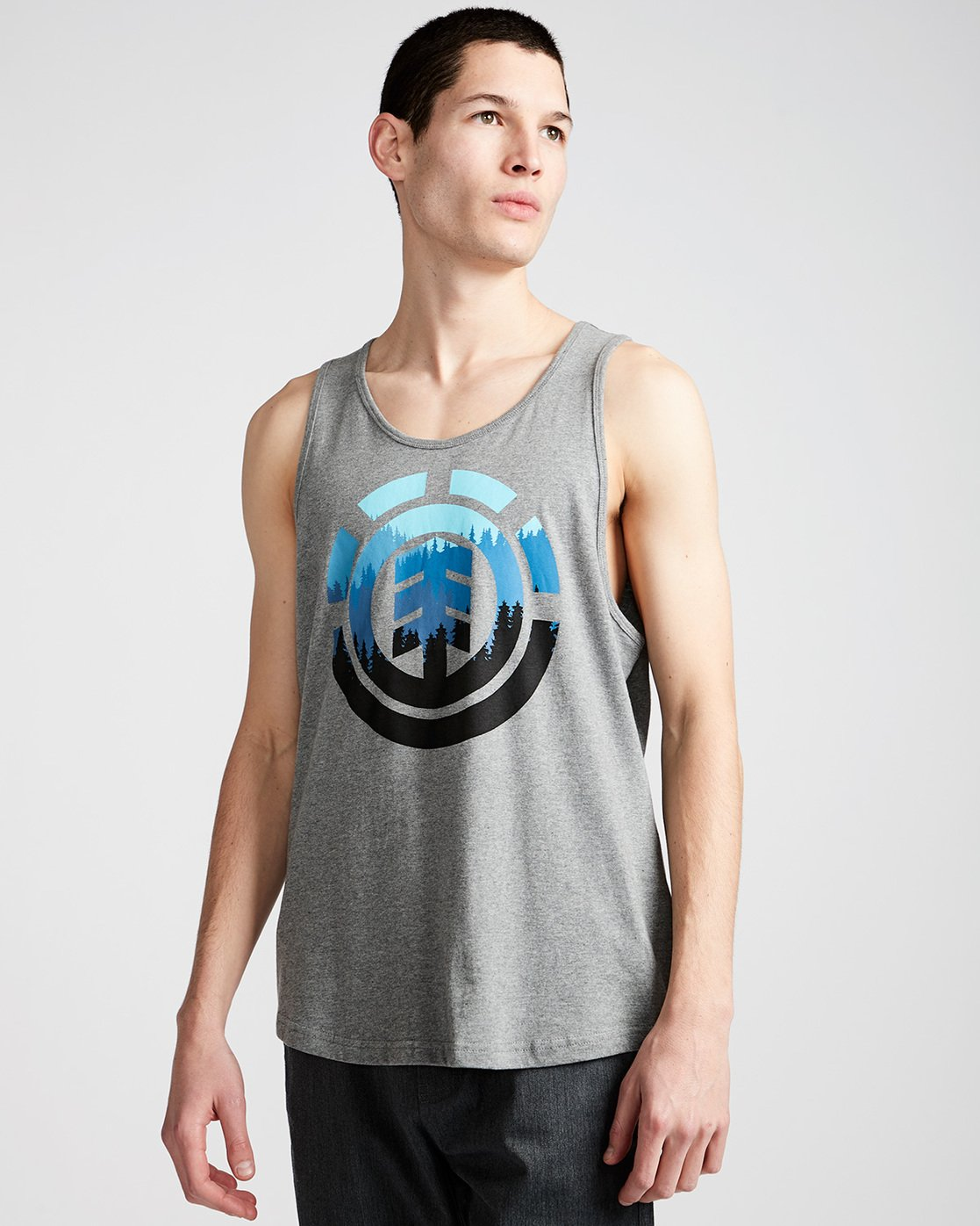 0 Glimpse Icon Tank - Tee Shirt for Men Grey N1SGA2ELP9 Element