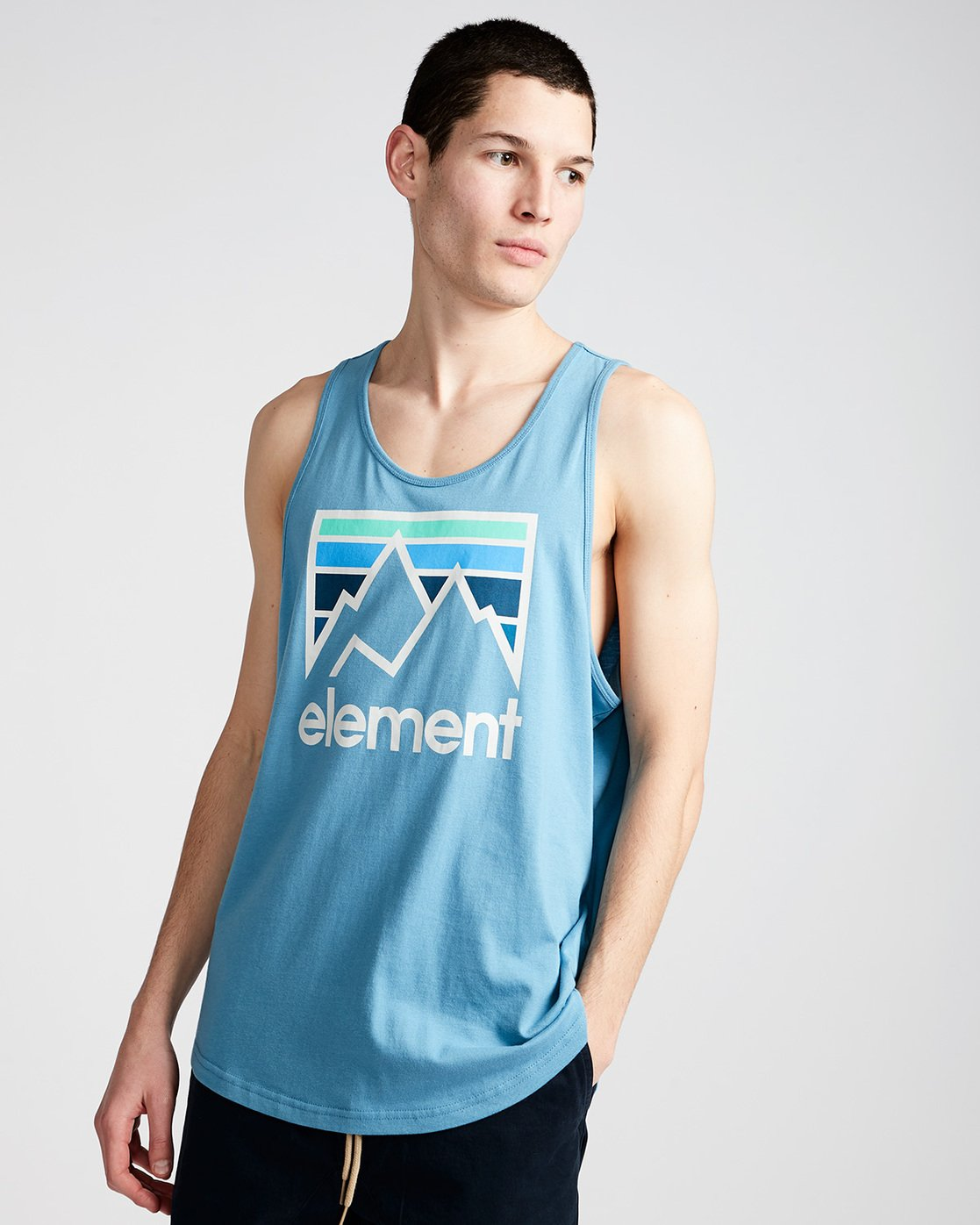 0 Joint Tank - Tee Shirt for Men Blue N1SGA5ELP9 Element