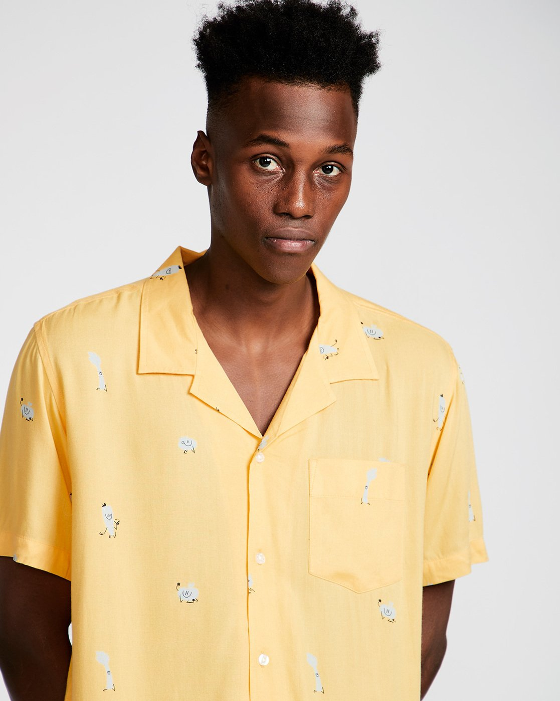 1 Yawyd Ss - Shirt for Men Yellow N1SHA6ELP9 Element