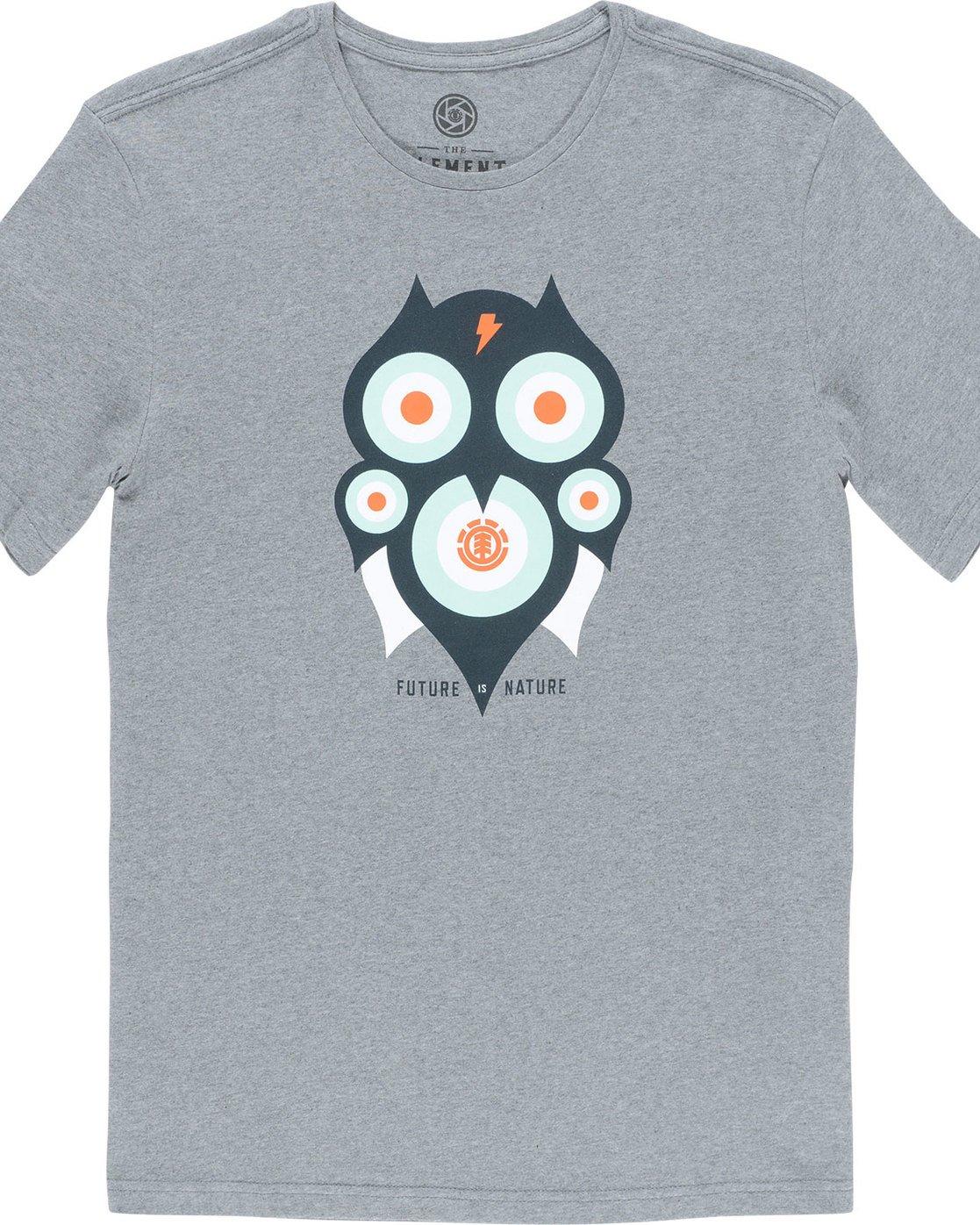 4 Hoot Ss - Tee Shirt for Men Grey N1SSA1ELP9 Element