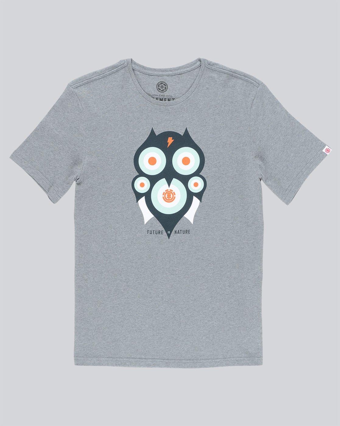 3 Hoot Ss - Tee Shirt for Men Grey N1SSA1ELP9 Element