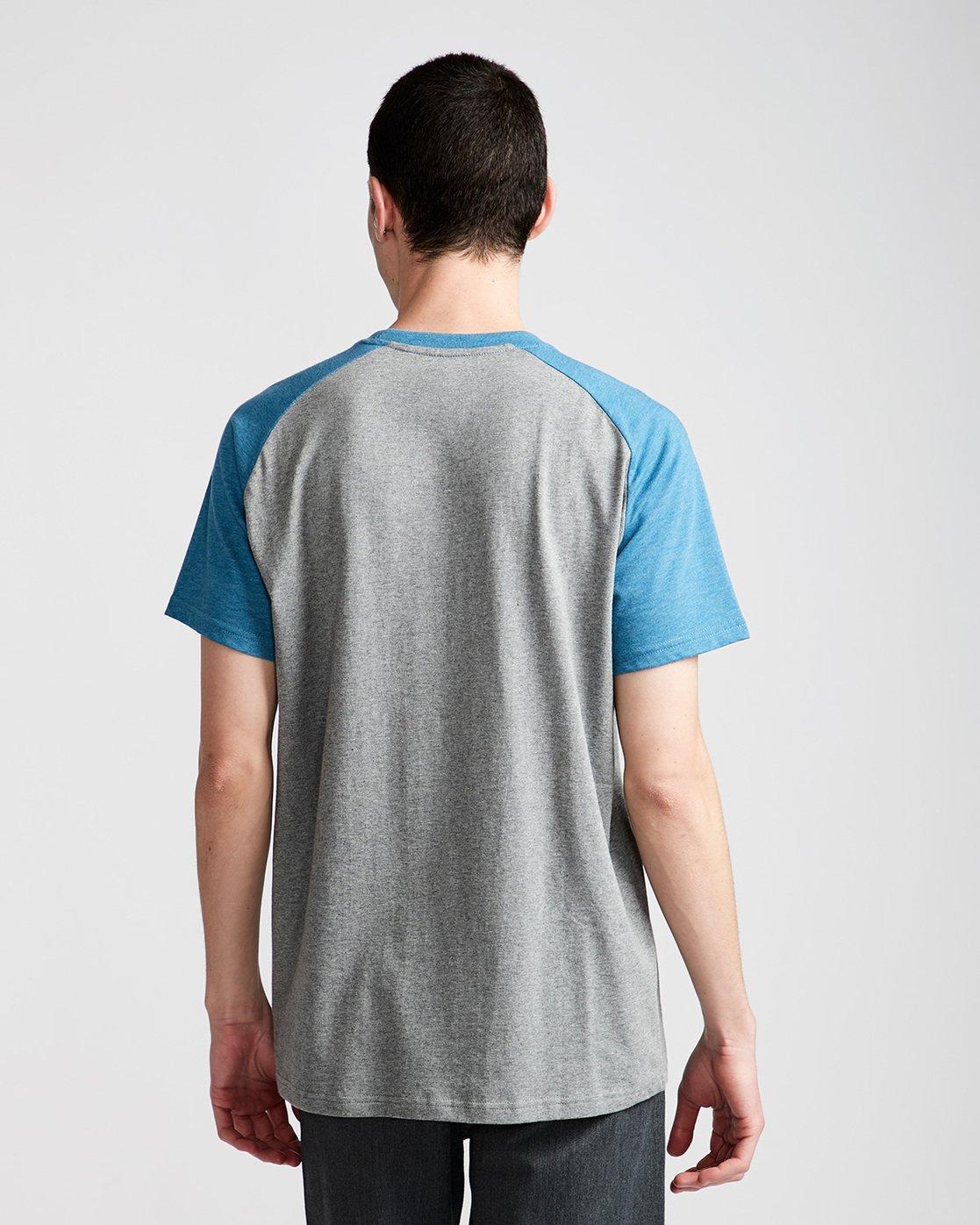 2 Basic Raglan Ss - Tee Shirt for Men Blue N1SSA2ELP9 Element