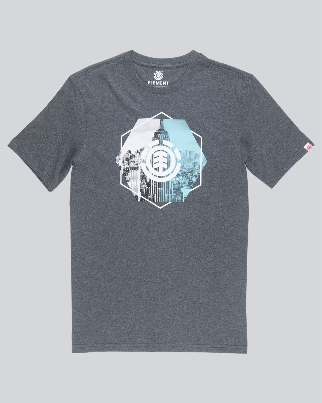 3 Rotation Ss - Tee Shirt for Men Grey N1SSA9ELP9 Element