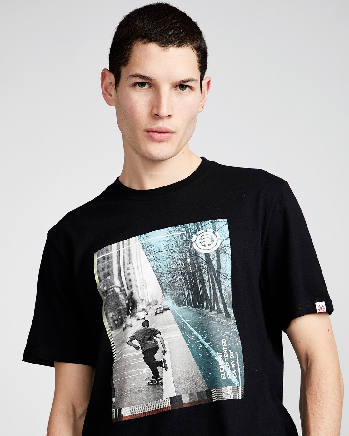1 Avenue Ss - Tee Shirt for Men Black N1SSB1ELP9 Element
