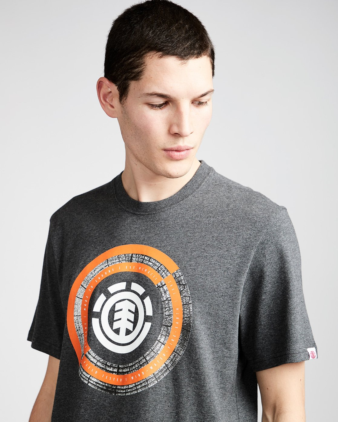 1 Iris Ss - Tee Shirt for Men Grey N1SSB2ELP9 Element