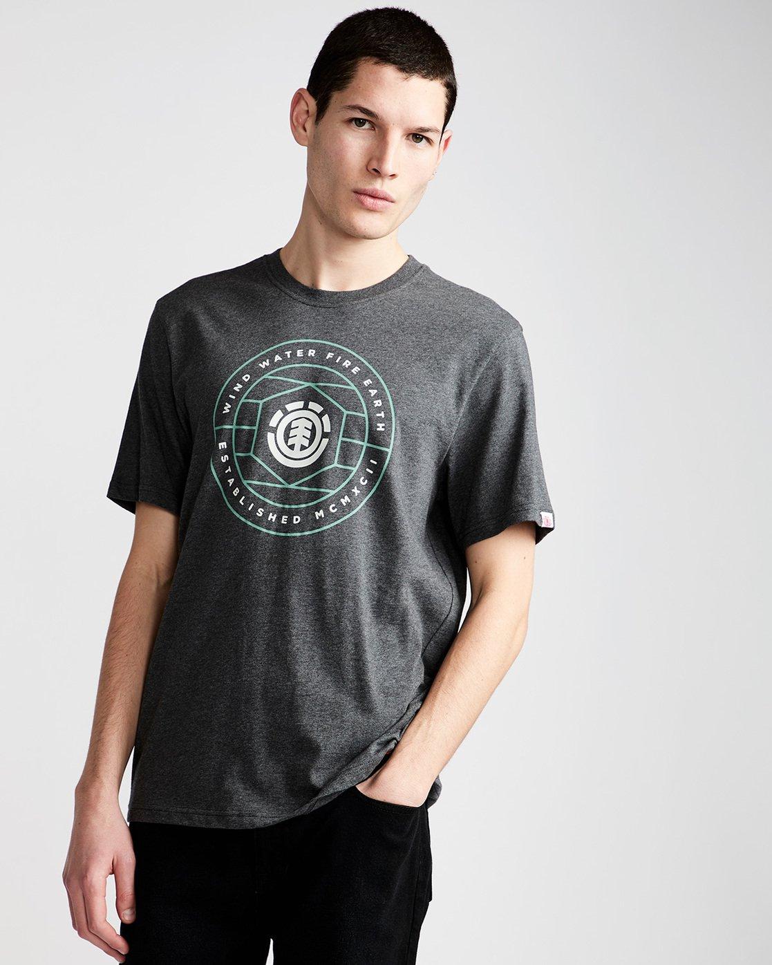 0 Swivel Ss - Tee Shirt for Men Grey N1SSB3ELP9 Element