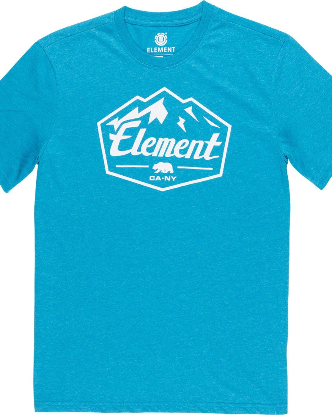 4 Slab Ss - Tee Shirt for Men Blue N1SSB7ELP9 Element