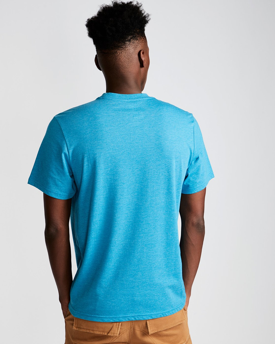 2 Slab Ss - Tee Shirt for Men Blue N1SSB7ELP9 Element