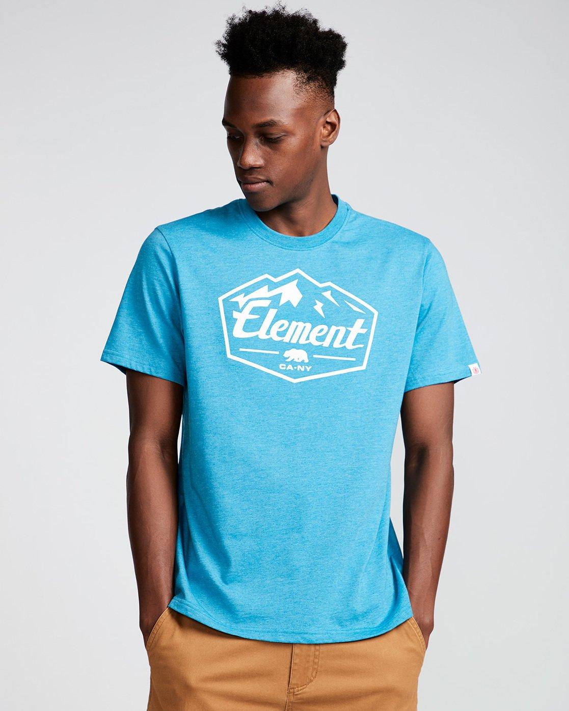 0 Slab Ss - Tee Shirt for Men Blue N1SSB7ELP9 Element