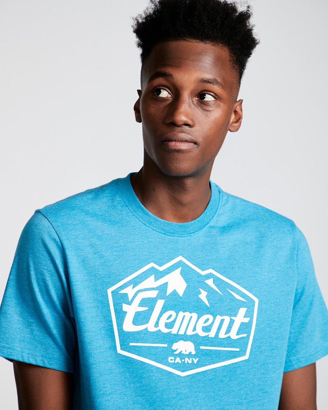 1 Slab Ss - Tee Shirt for Men Blue N1SSB7ELP9 Element