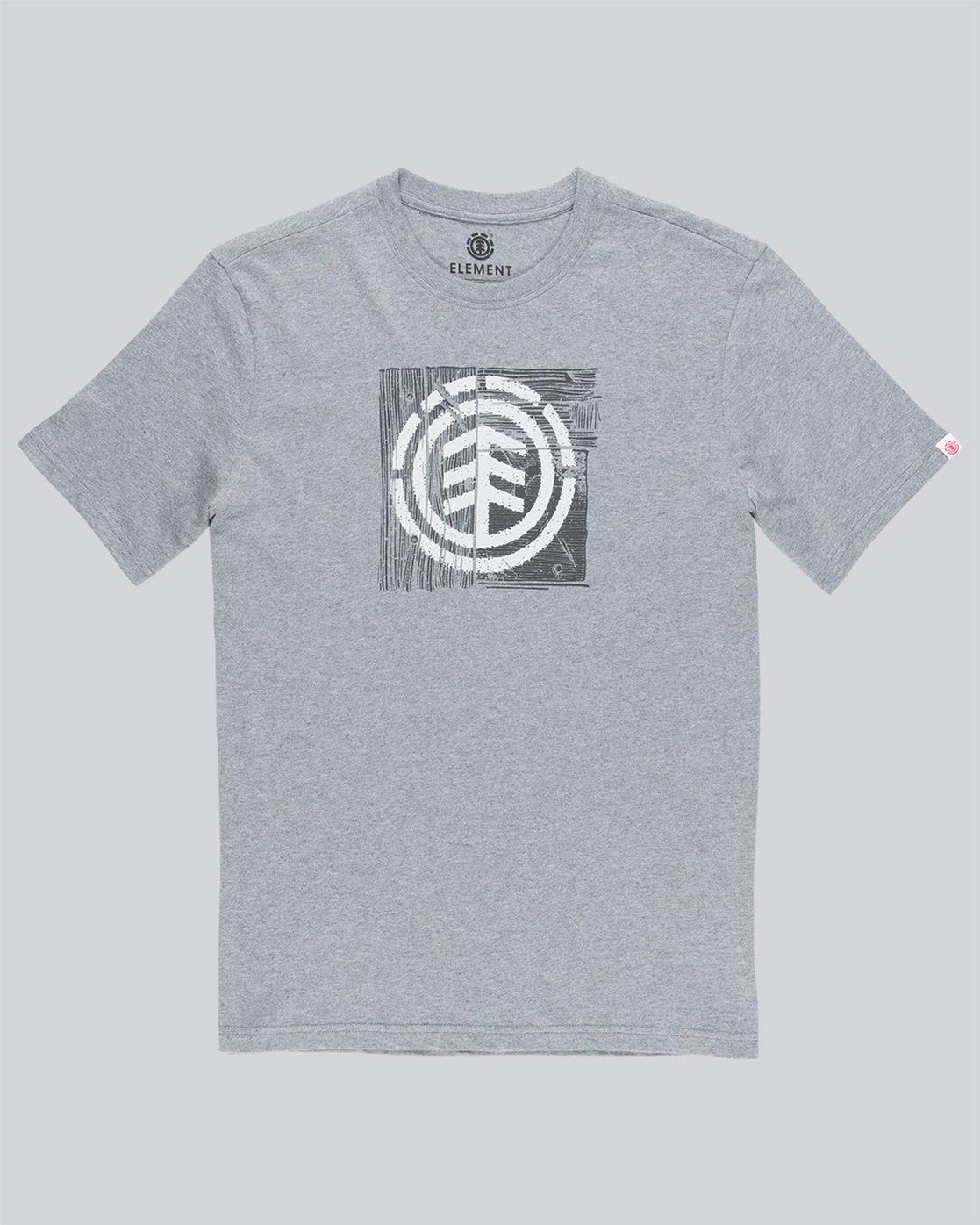 3 Driftwood Ss - Tee Shirt for Men Grey N1SSC5ELP9 Element