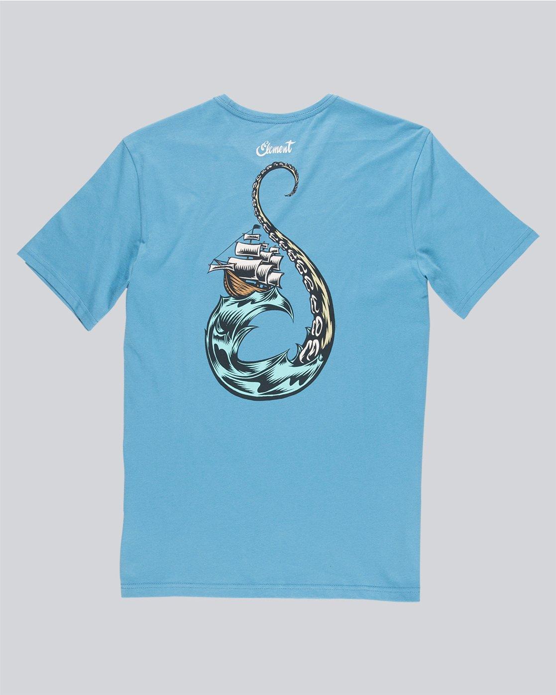 5 Craken Ss - Tee Shirt for Men Blue N1SSD4ELP9 Element
