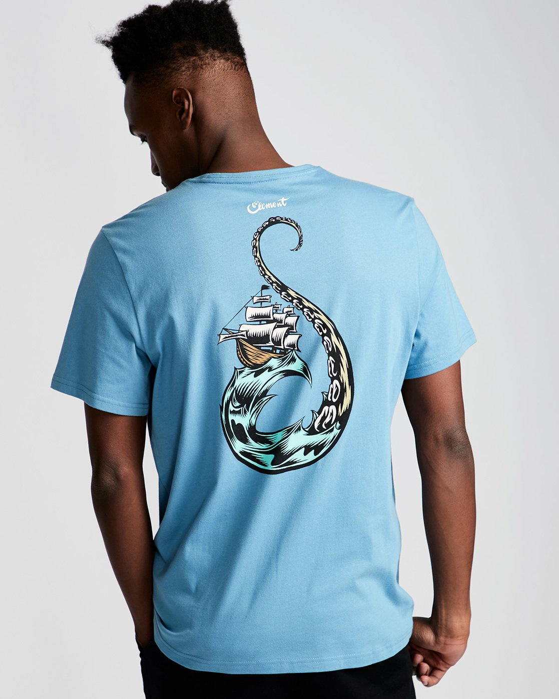 2 Craken Ss - Tee Shirt for Men Blue N1SSD4ELP9 Element