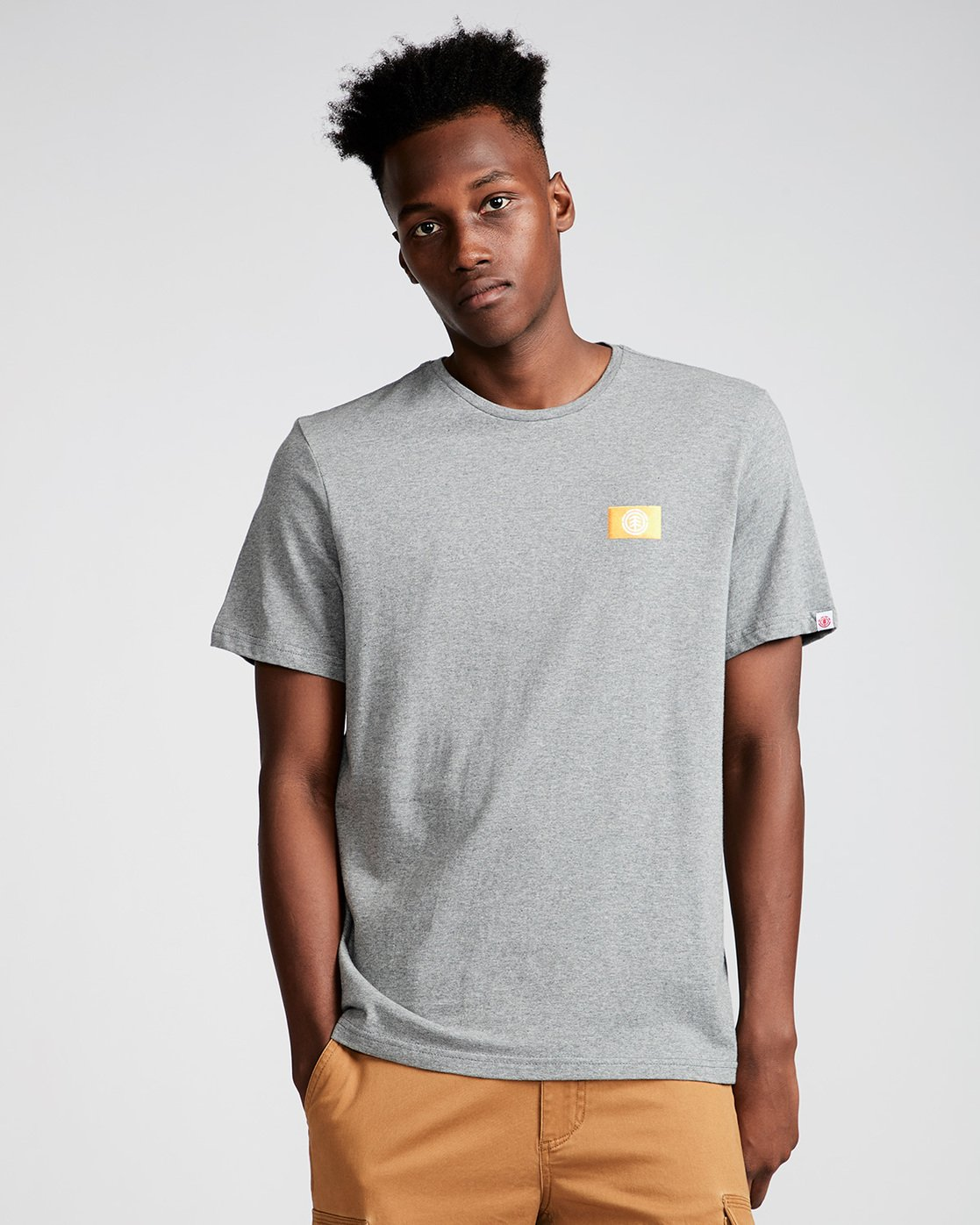 0 Jar Ss - Tee Shirt for Men Grey N1SSD7ELP9 Element
