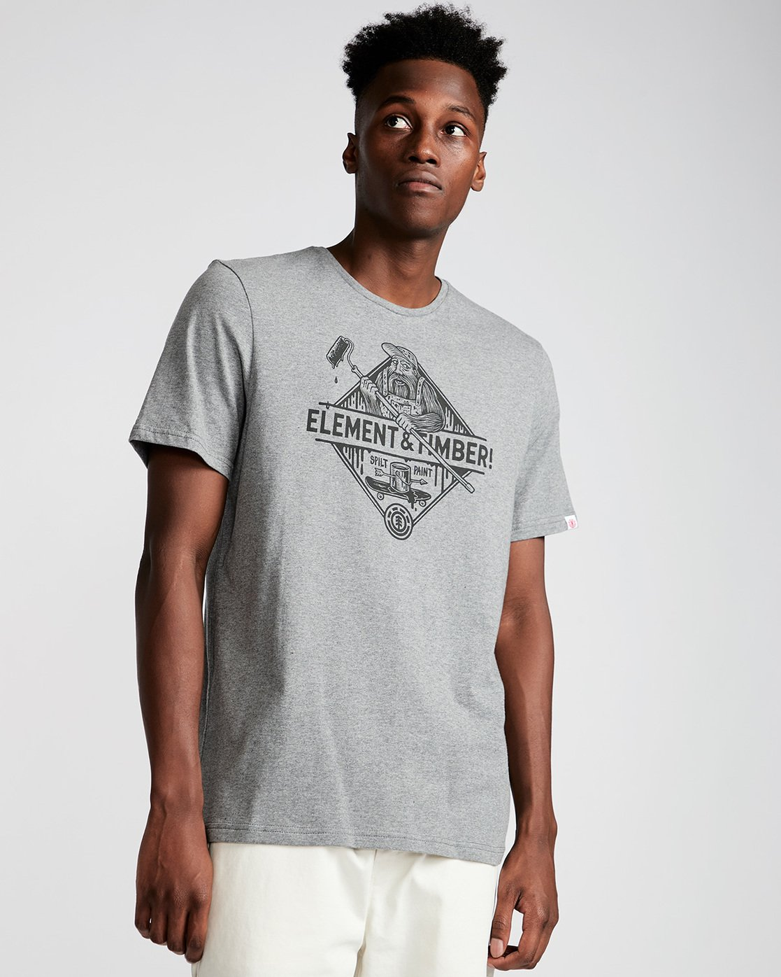 0 Rolling Ss - Tee Shirt for Men Grey N1SSD9ELP9 Element