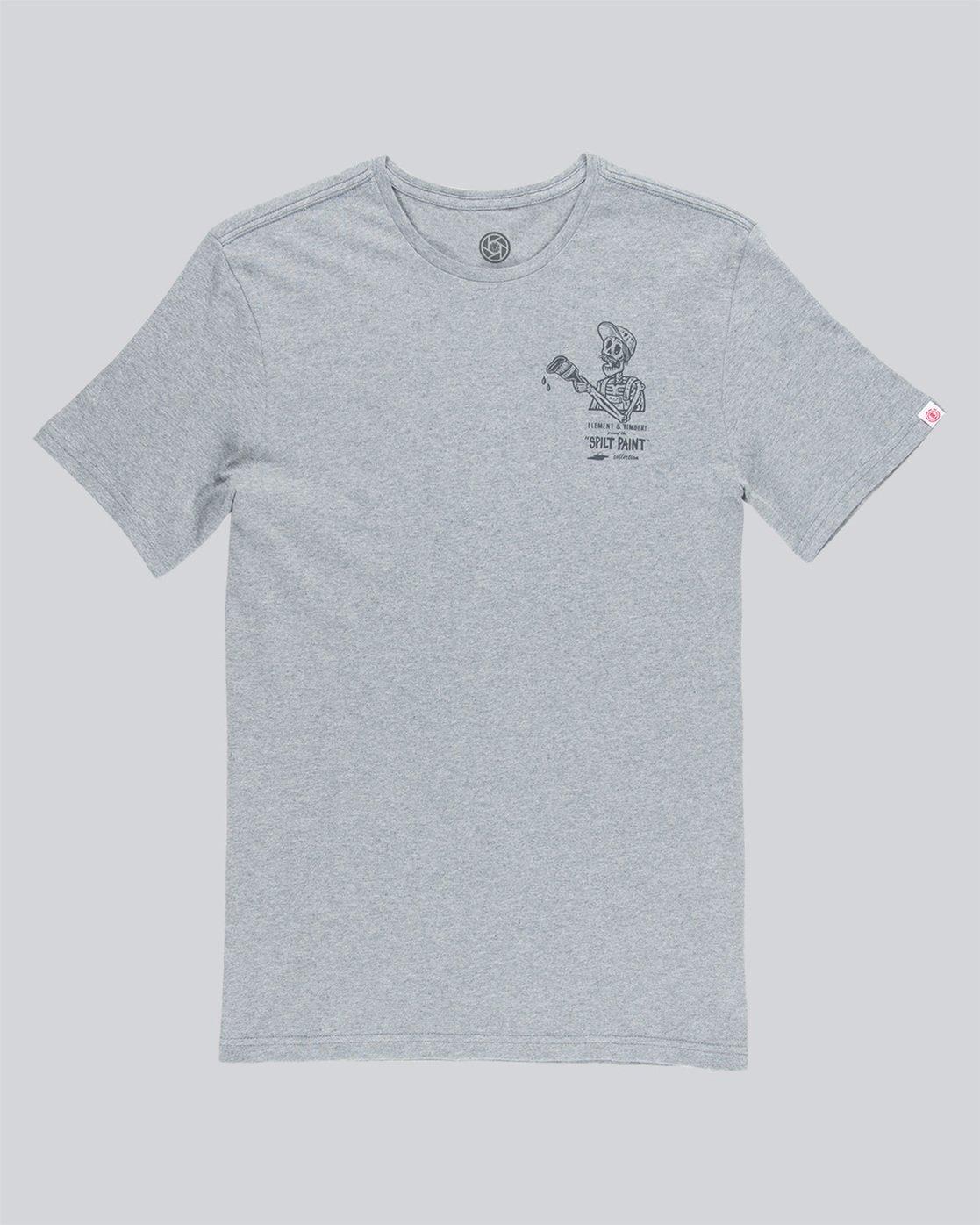 3 Spilt Ss - Tee Shirt for Men Grey N1SSE1ELP9 Element