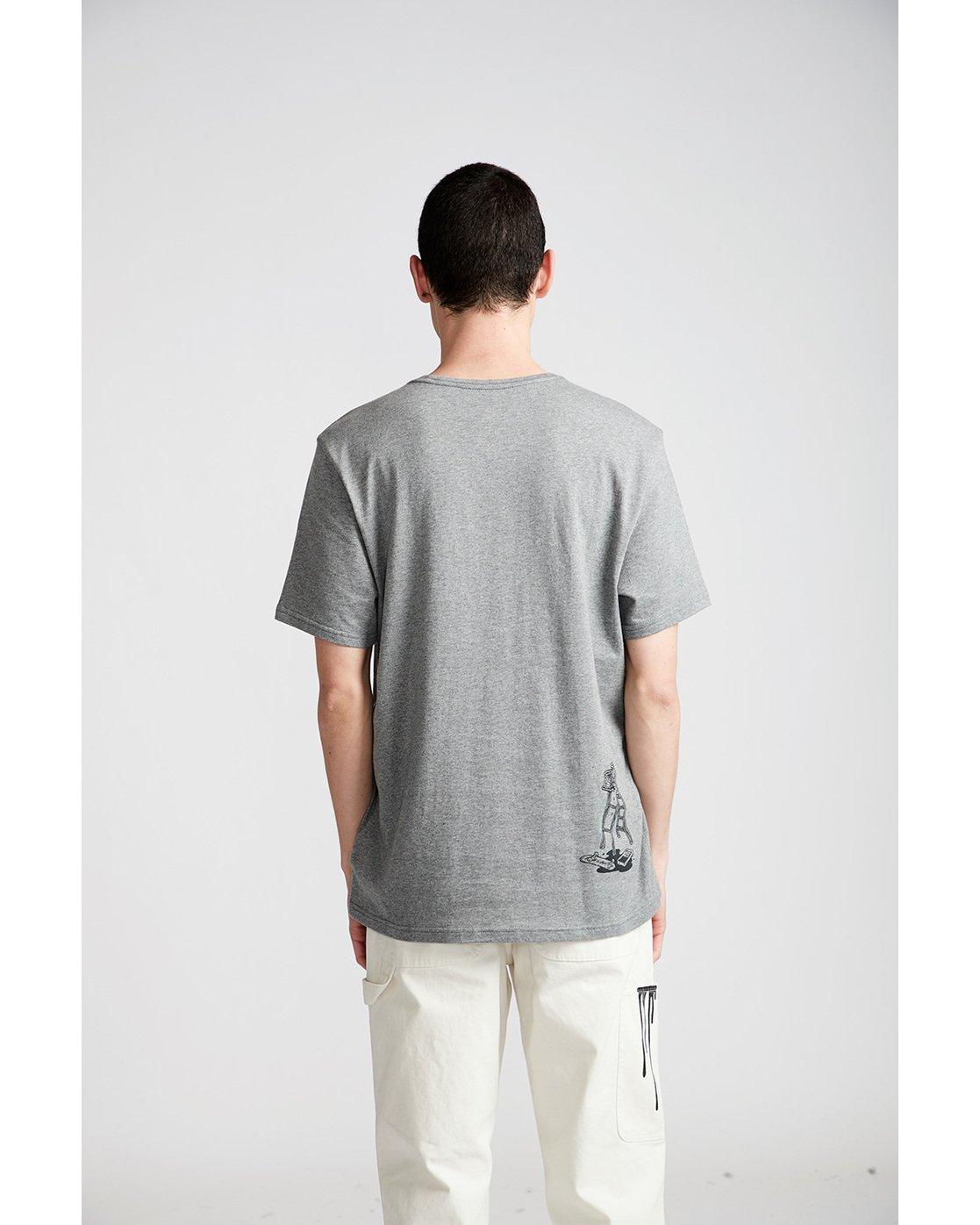 2 Spilt Ss - Tee Shirt for Men Grey N1SSE1ELP9 Element