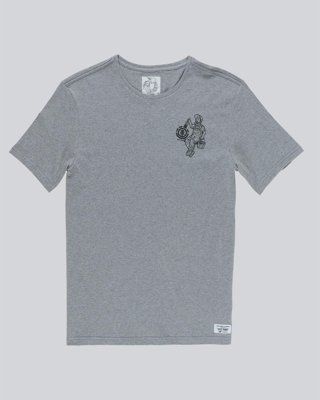 4 Crew Ss - Tee Shirt for Men Grey N1SSE2ELP9 Element