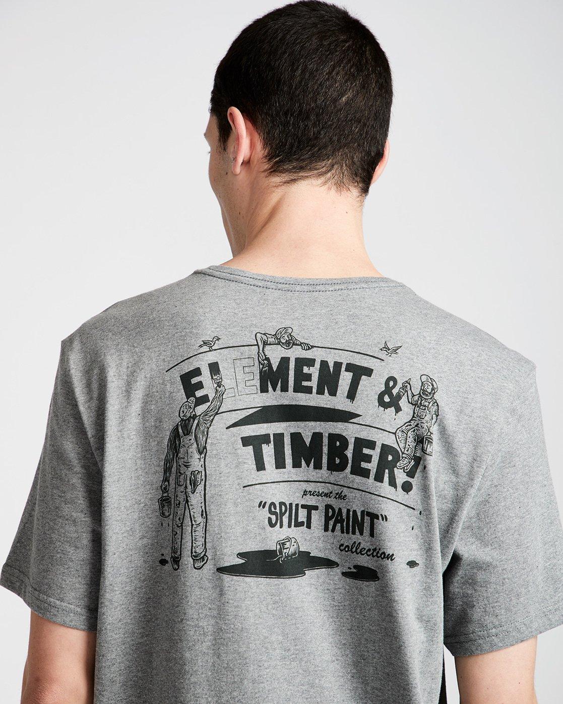 3 Crew Ss - Tee Shirt for Men Grey N1SSE2ELP9 Element