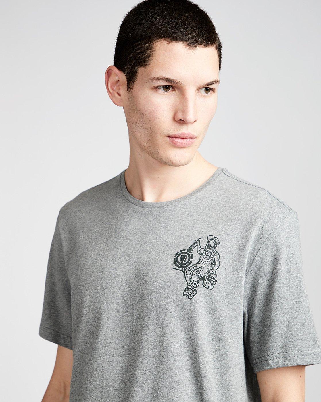 1 Crew Ss - Tee Shirt for Men Grey N1SSE2ELP9 Element