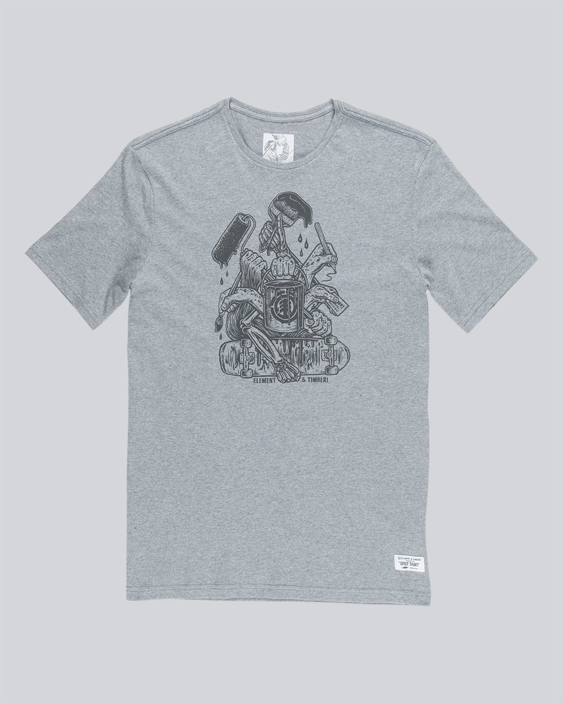 3 By Hand Ss - Tee Shirt for Men Grey N1SSE3ELP9 Element