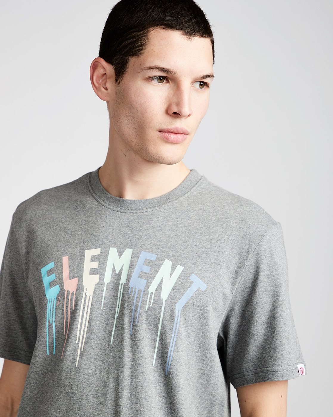 1 Stencil Ss - Tee Shirt for Men Grey N1SSE6ELP9 Element