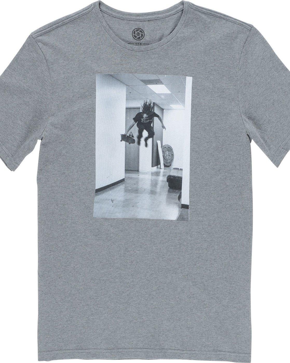 4 Hr Ss - Tee Shirt for Men Grey N1SSE7ELP9 Element