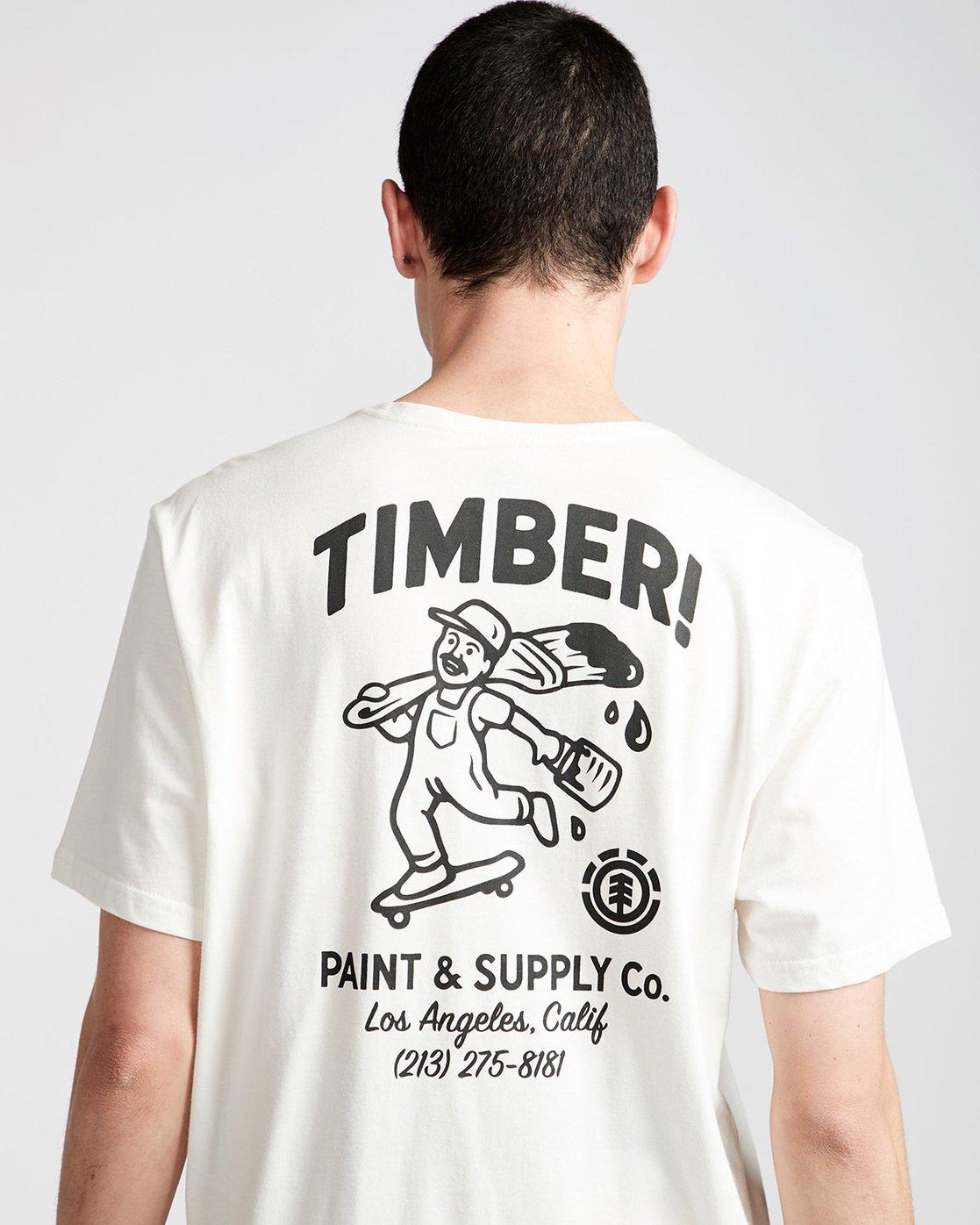 3 Supply Co Ss - Tee Shirt for Men White N1SSF1ELP9 Element
