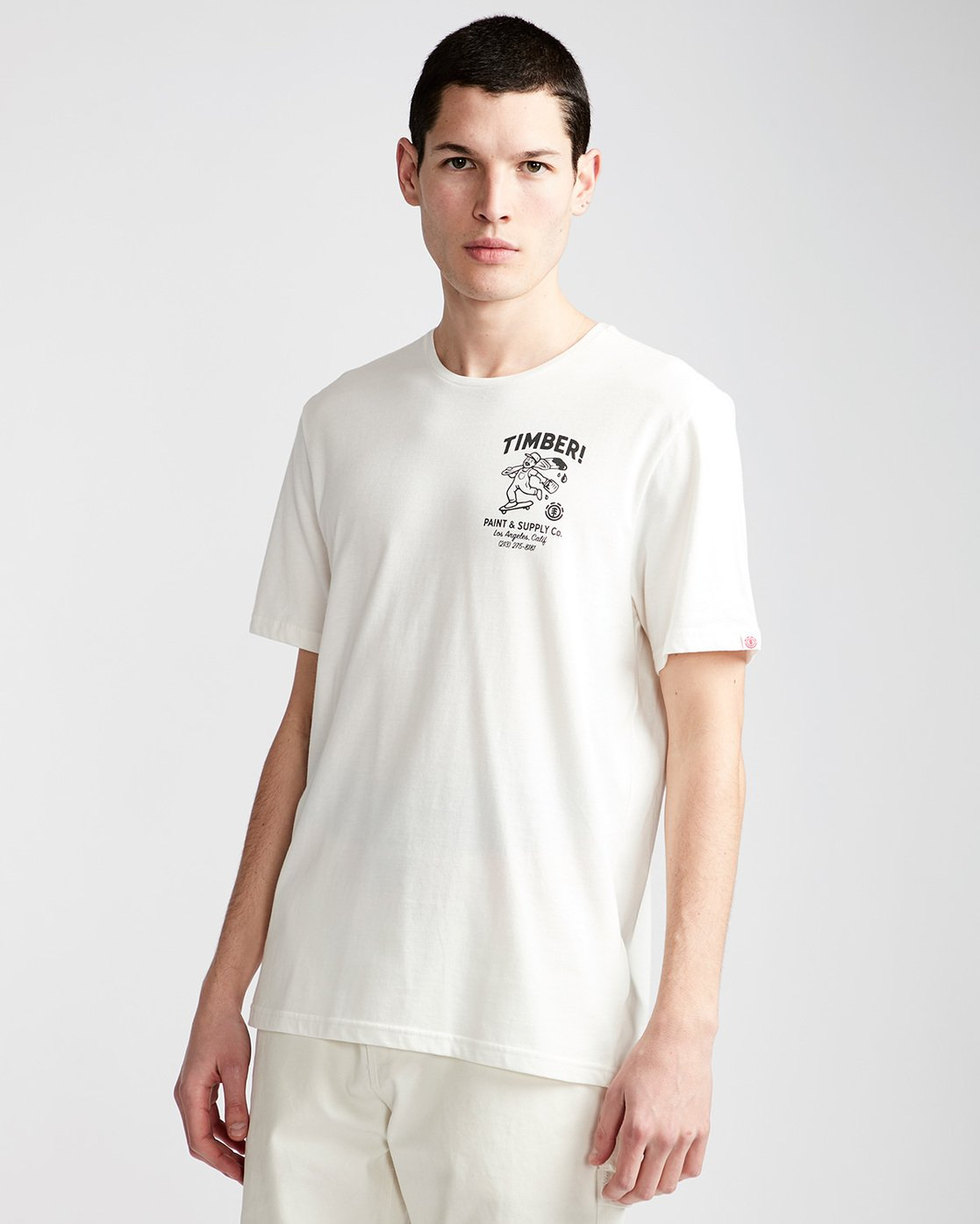 0 Supply Co Ss - Tee Shirt for Men White N1SSF1ELP9 Element
