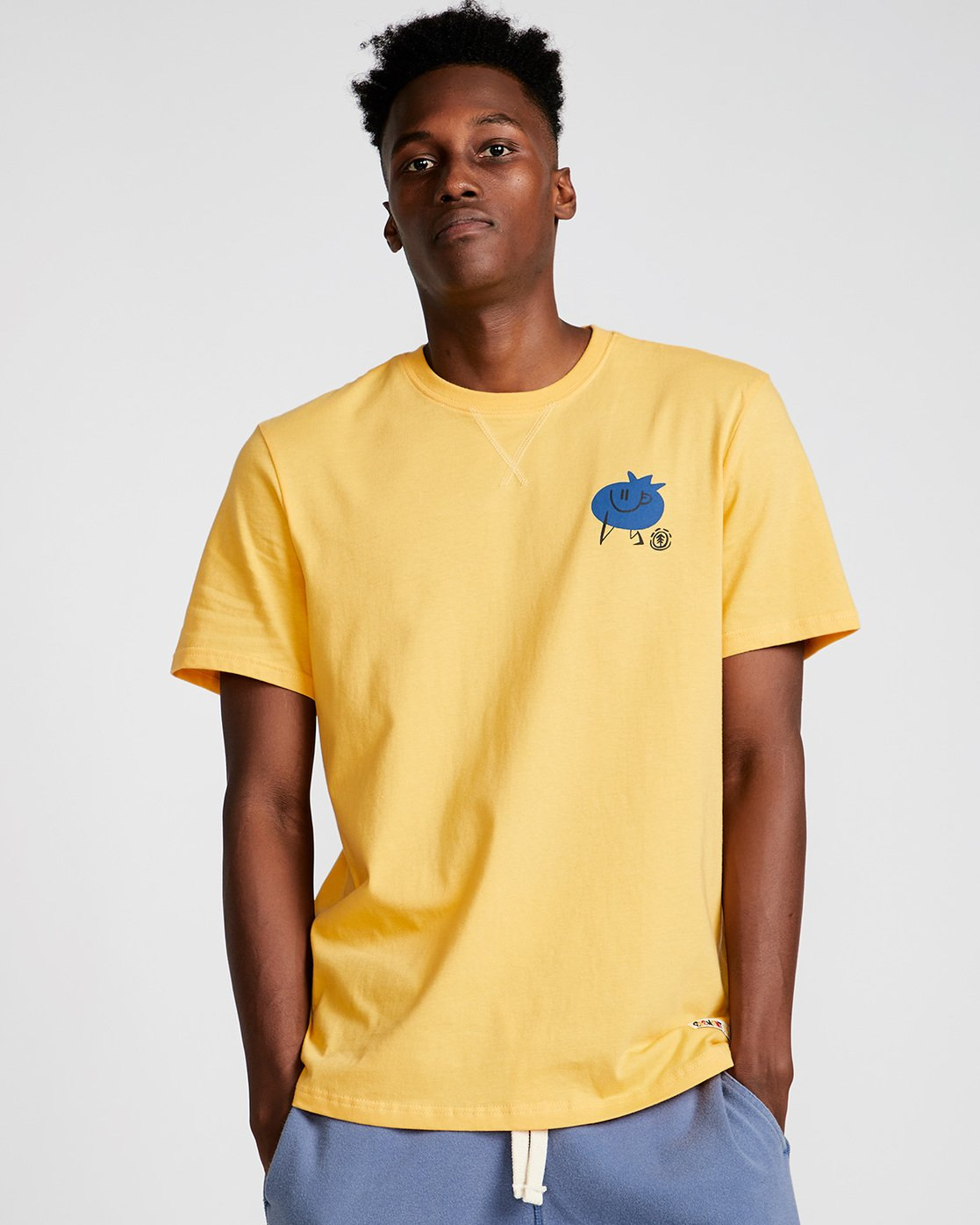 0 Yawyd Healthy Ss Tee - Tee Shirt for Men Yellow N1SSF4ELP9 Element