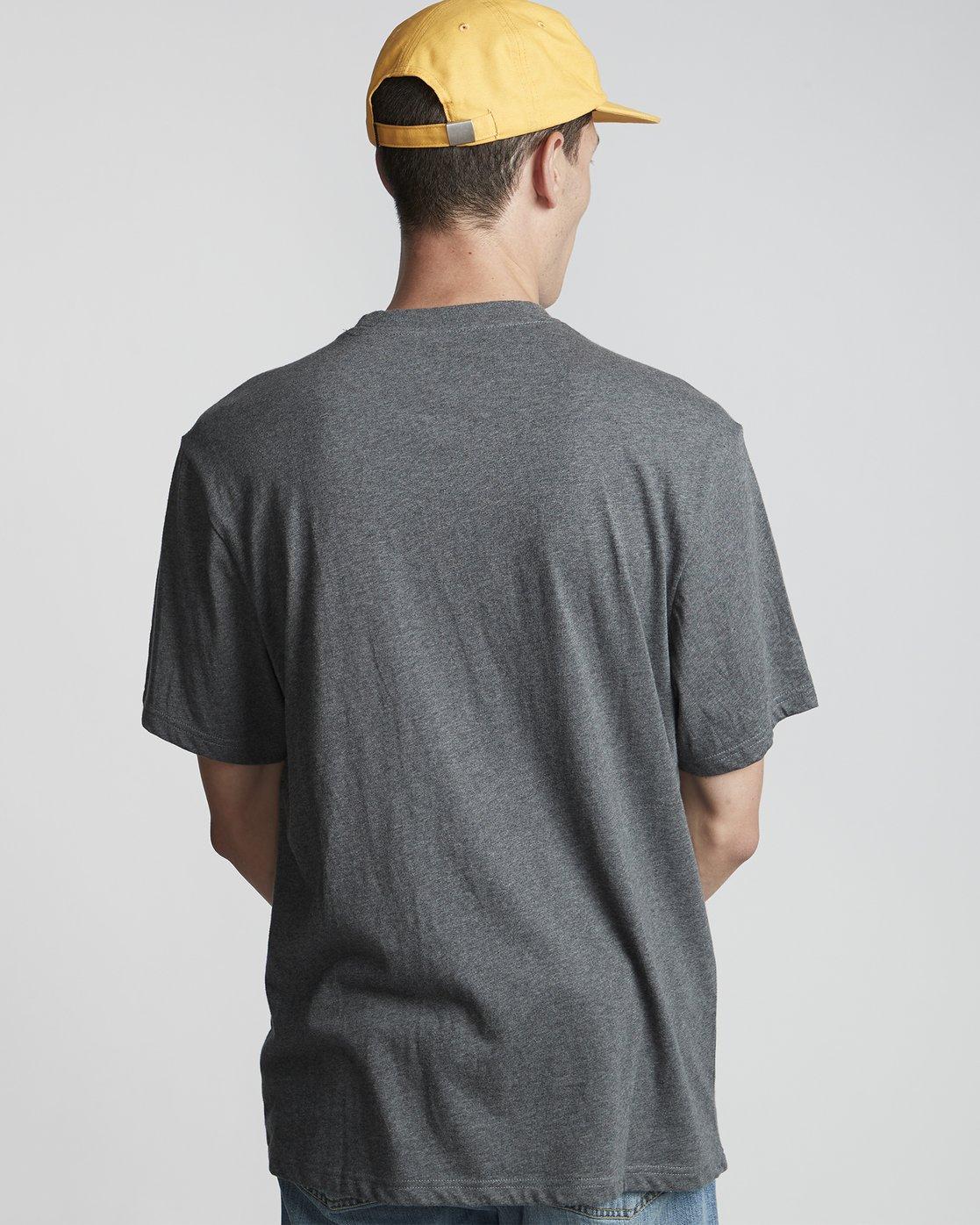 3 Basic - Maglietta a maniche corte Gray N1SSG1ELP9 Element