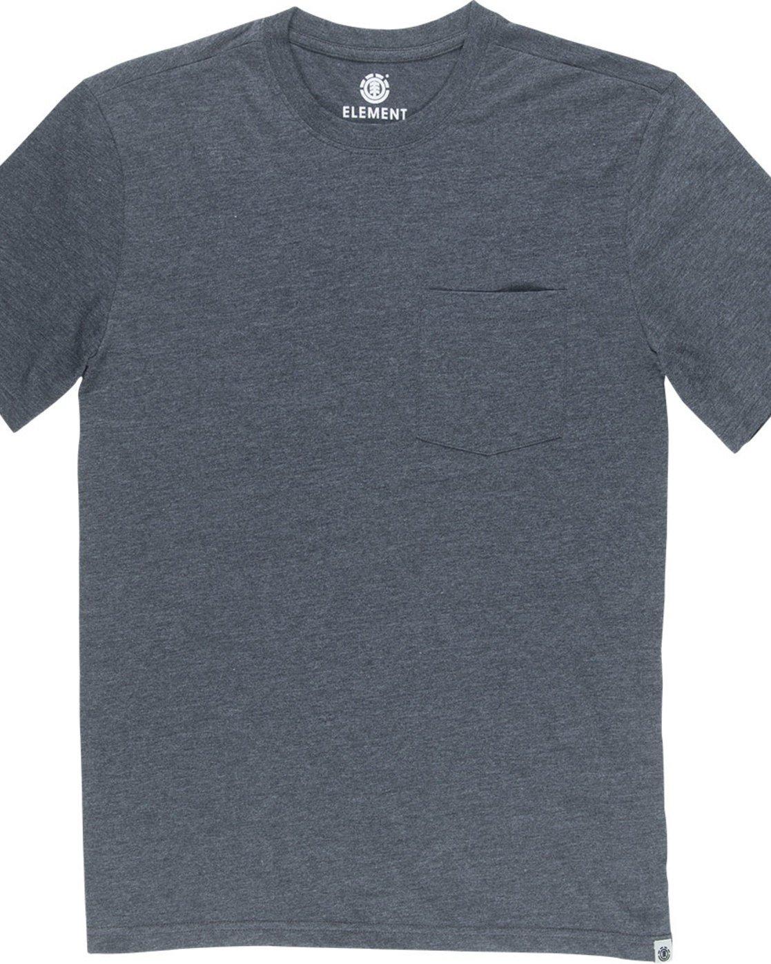 4 Basic Pocket Cr Ss - Tee Shirt for Men Grey N1SSG2ELP9 Element