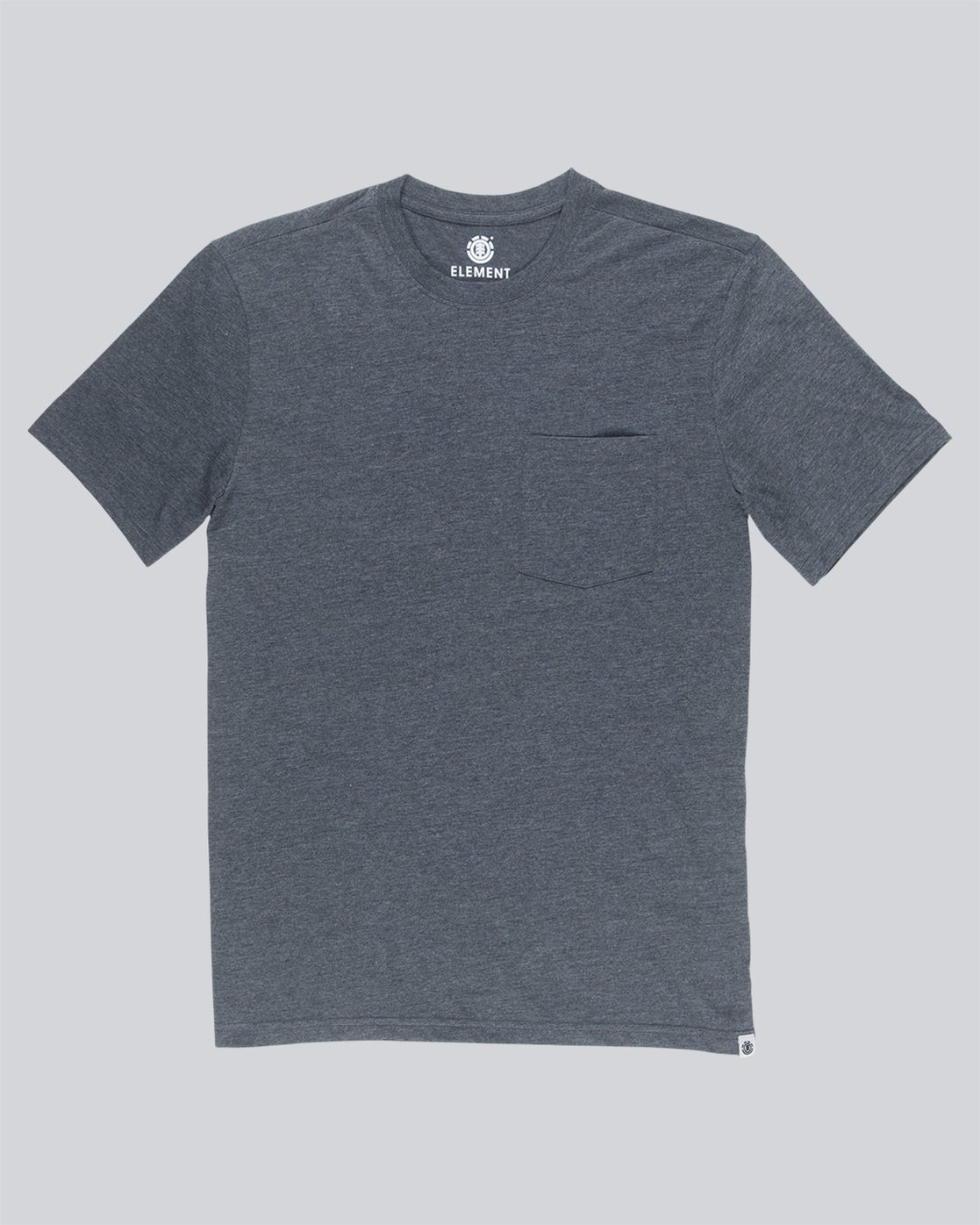 3 Basic Pocket Cr Ss - Tee Shirt for Men Grey N1SSG2ELP9 Element