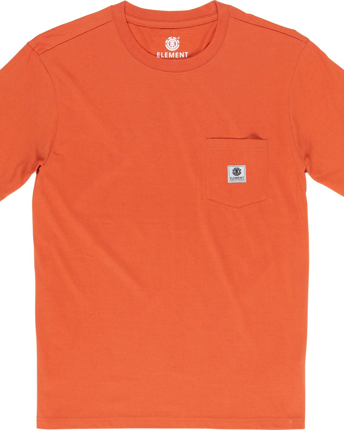 1 Basic Pocket Label - Short Sleeve T-Shirt for Men Orange N1SSG3ELP9 Element