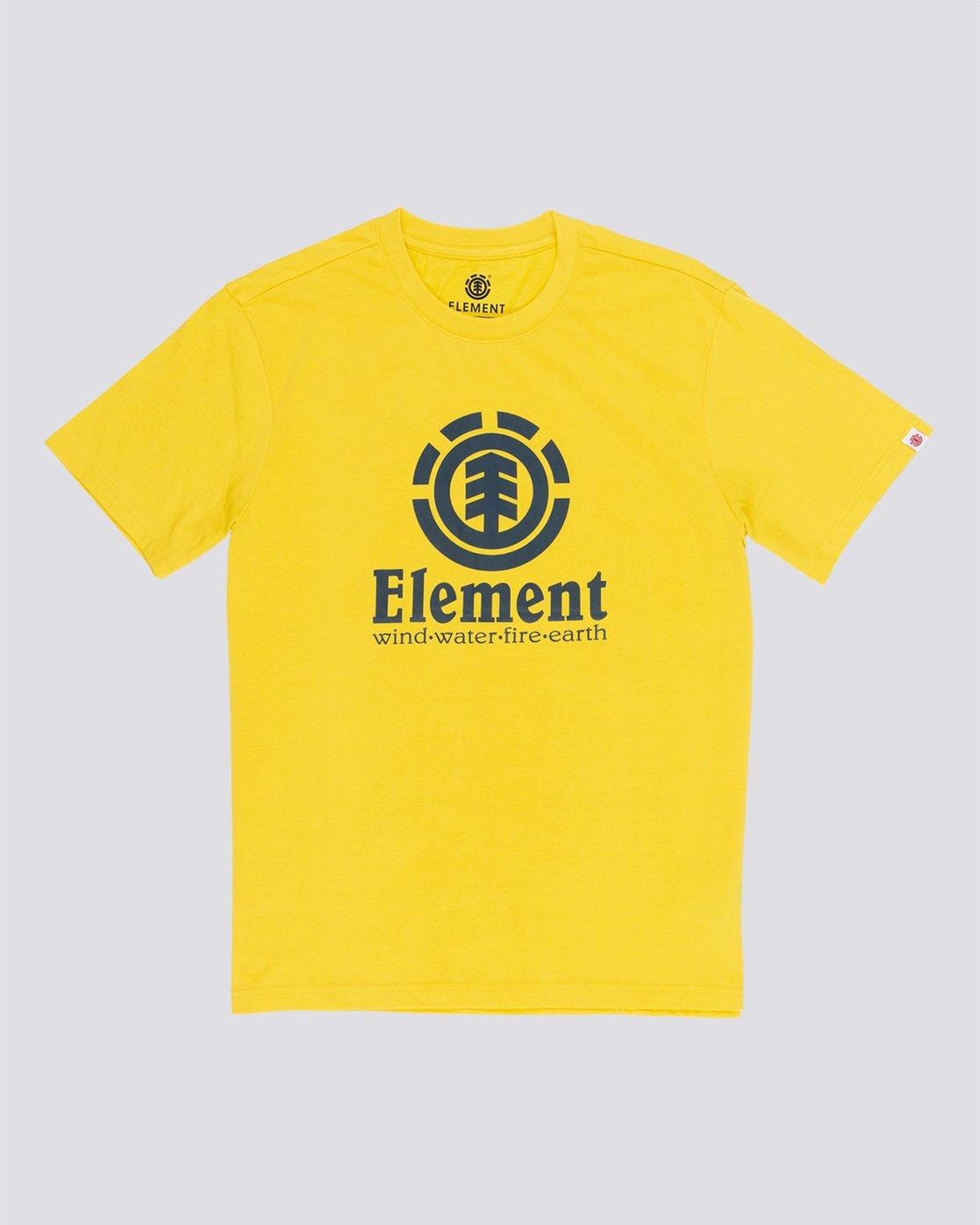 0 Vertical - Short Sleeve T-Shirt for Men Yellow N1SSG4ELP9 Element