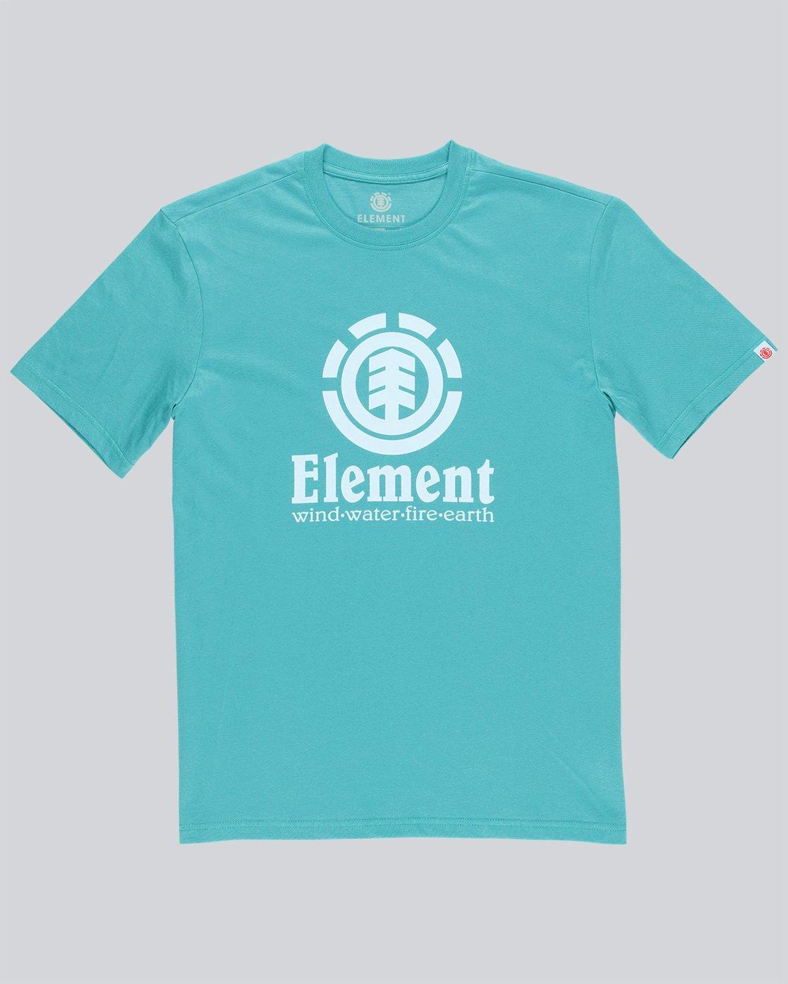 3 Vertical - Short Sleeve T-Shirt for Men Green N1SSG4ELP9 Element