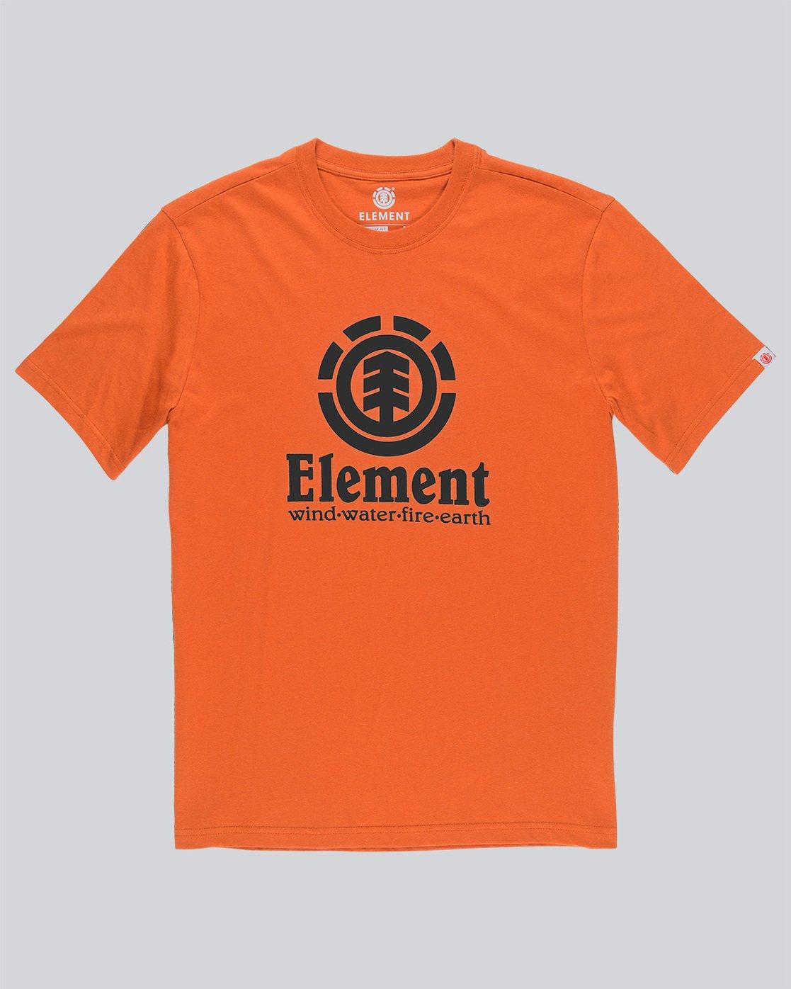 3 Vertical - Short Sleeve T-Shirt for Men Red N1SSG4ELP9 Element