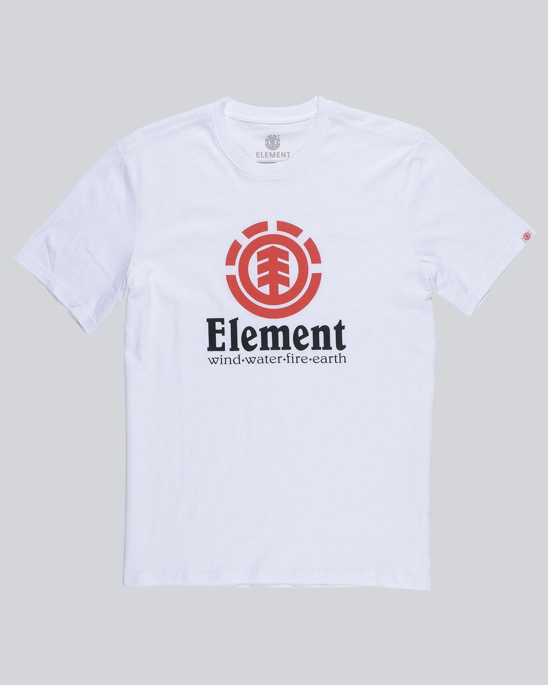 0 Vertical - Maglietta a maniche corte da Uomo White N1SSG4ELP9 Element