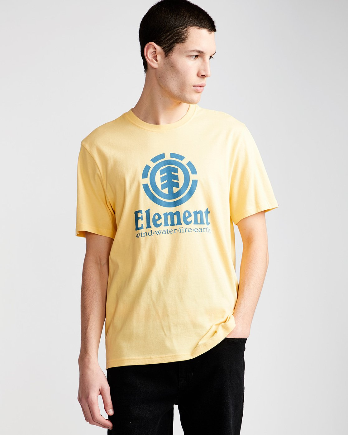 0 Vertical - T-Shirt Yellow N1SSG4ELP9 Element