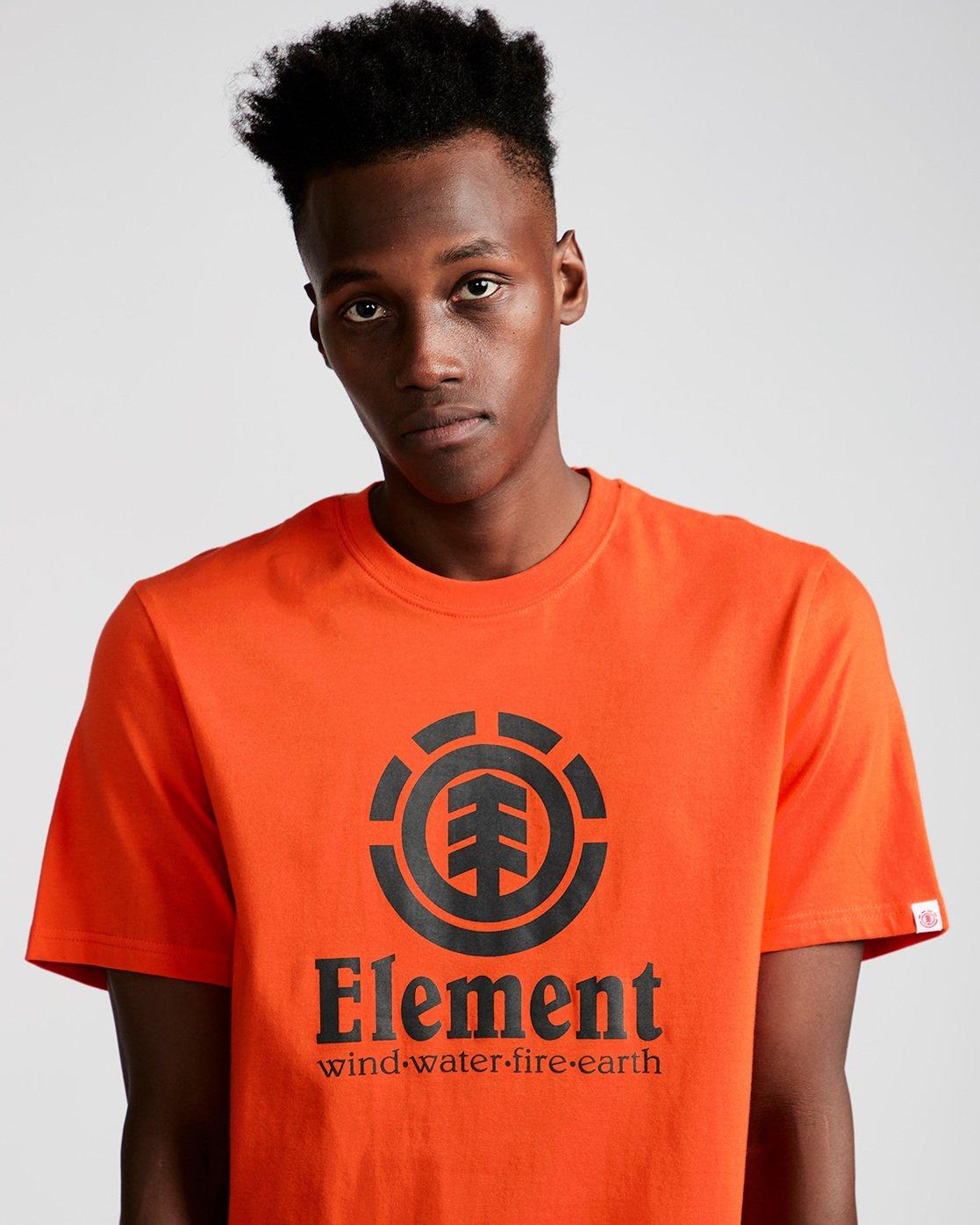 1 Vertical - Short Sleeve T-Shirt for Men Red N1SSG4ELP9 Element