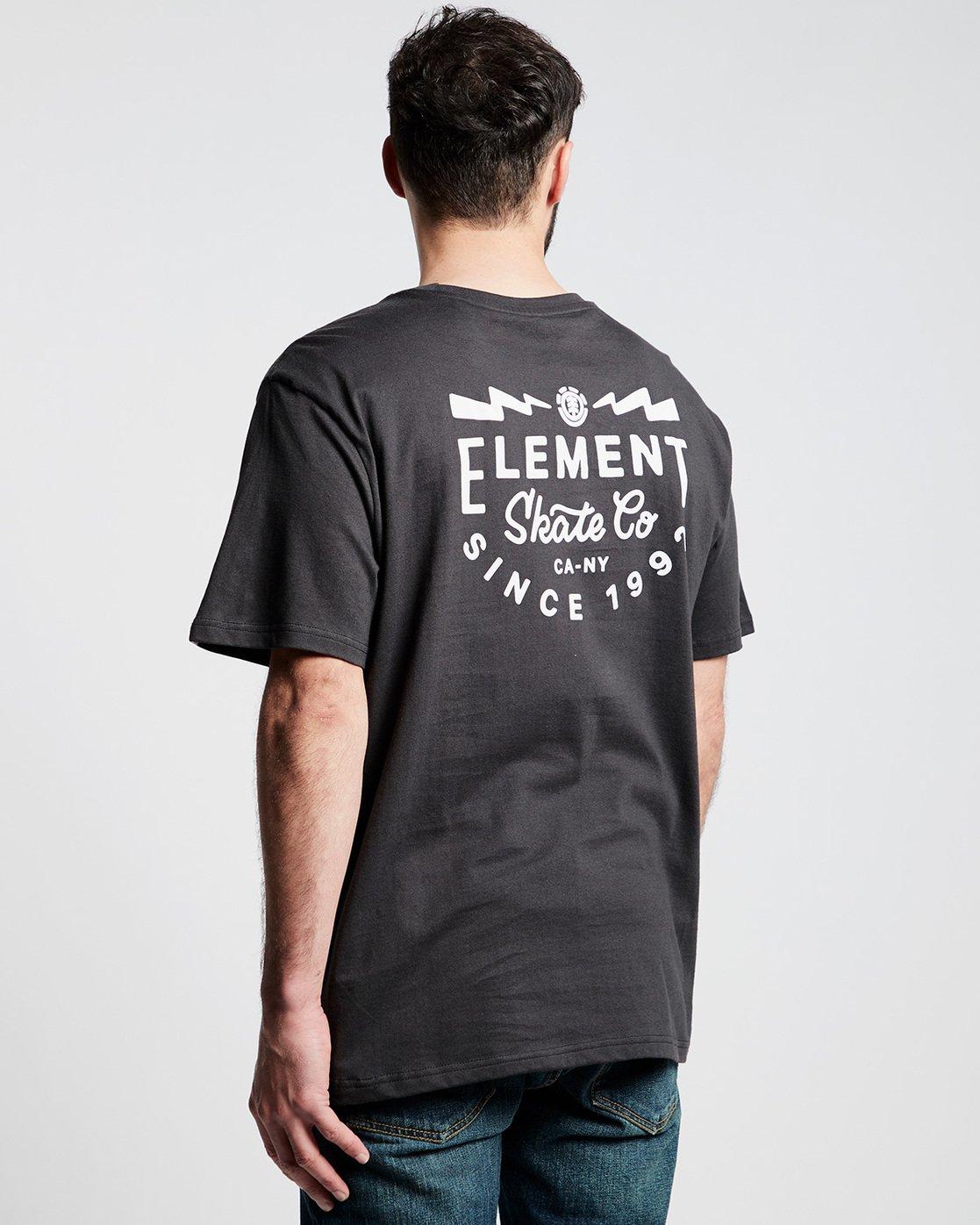 2 Zap Ss Tee Ftm - Tee Shirt for Men Black N1SSI5ELP9 Element