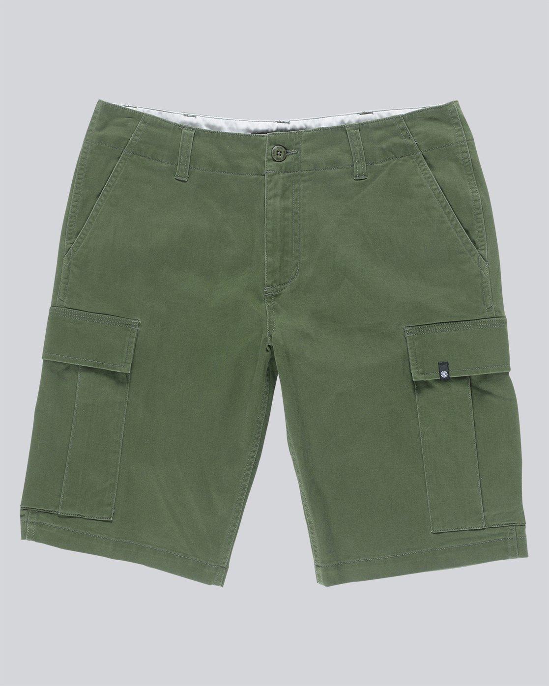 """4 Legion Cargo 21"""" - Shorts for Men Green N1WKA3ELP9 Element"""