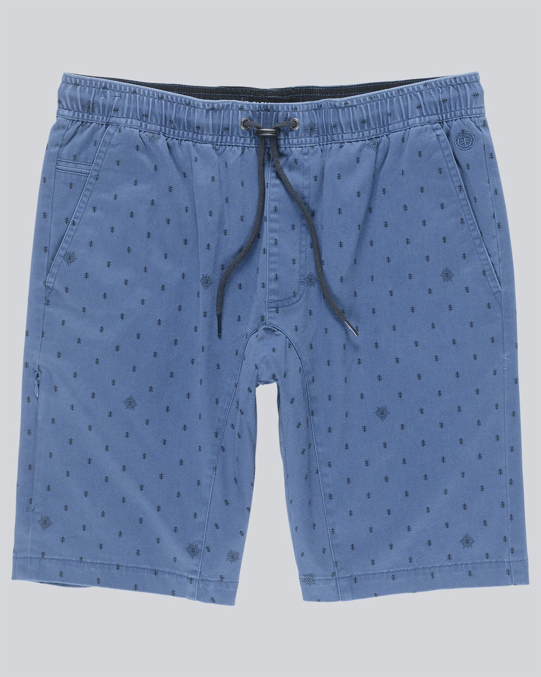 0 Altona Print Wk - Walkshort for Men Blue N1WKA5ELP9 Element